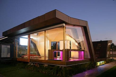Maison en bois design - baie vitrée